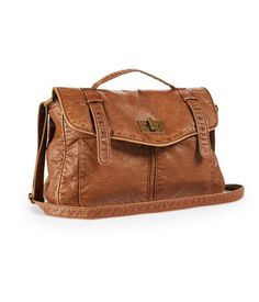 Faux Leather Messenger Bag from Aeropostale