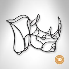 Rhino Trophy wooden sign is a sustainable home design piece by Antoine Tesquier Tedeschi for Respectful Animal Trophy series. Handmade in France. Elephant Anatomy, Barbed Wire Art, Art Fil, Geometric Quilt, 3d Wall Art, String Art, Art Techniques, Wall Signs, Easy Drawings
