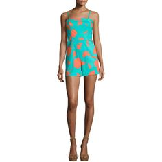 Diane Von Furstenberg Sleeveless Beach Romper (730 BRL) ❤ liked on Polyvore featuring jumpsuits, rompers, multi, diane von furstenberg romper, sleeveless rompers, fitted tops, playsuit romper and sleeveless romper