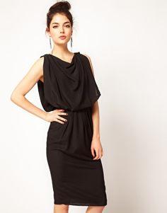 Enlarge ASOS Drape Dress with Strap Back
