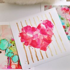 Hey, I found this really awesome Etsy listing at https://www.etsy.com/listing/186914475/pink-heart-art-print-of-watercolor