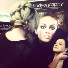 Updo with a waterfall braid