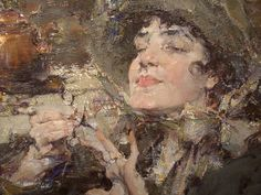 "Nicolai Fechin - ""Manicure Lady"" (detail)"
