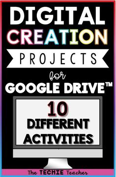 Creation projects for Google Drive™️ are a great way for students to explore their digital creativity with an academic twist. These paperless activities can be used independently or collaboratively. Will work on Chromebooks, laptops or computers.