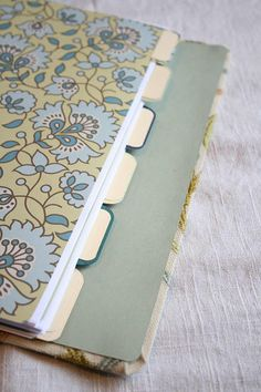 Fabric covered binder.