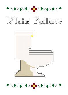 Cross Stitch Pattern -- Whiz Palace 5x7 and mini
