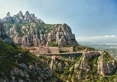 "Montserrat, whose Catalan name translates literally to ""Serrated Mountain,"" is topped by Benedictine monastery Santa Maria de Montserrat. (Photograph by igrigorik, Flickr)"