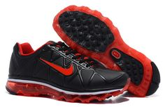 Nike Air Max 95 Leather Womens Running Shoes Black Red