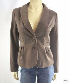 J CREW Sz 4 Taupe Gray Velveteen Peplum Blazer Jacket #JCrew #Blazer