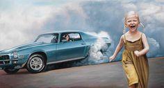 https://www.behance.net/gallery/15095793/Love-muscle-cars-oil-on-canvas