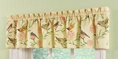 Springtime Birds and Blooms Window Valance