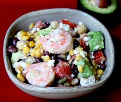 Shrimp Avocado Salad   Author: Itsy Bitsy Foodies  Prep time: 15 mins  Cook time: 5 mins  Total time: 20 mins  Serves: 4  Shrimp seemed liked the perfect choice for a summer salad but this salad dressing lends itself to a variety of salad fixings.