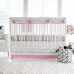 Pink Cheyenne Baby Bedding | Tribal Fusion Crib Rail Cover