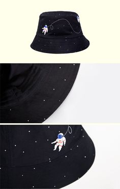 Bucket Hat by YiZi; astronaut, detail, accessories