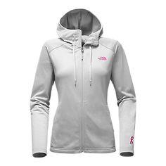 The North Face Women's Pink Ribbon Tech Mezzaluna Hoodie Sweatshirt Jacket