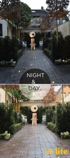 Wat doet tuinverlichting 's avonds met een tuin? Bekijk hier NIGHT & DAY #5 #inlite #buitenverlichting