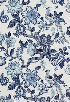 Fabric | Huntington Gardens in Bleu Marine | Schumacher