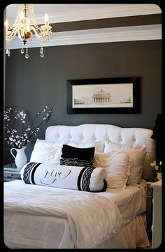 Love these colors. Could be any dark colored with a grey tone then with the white. So classy