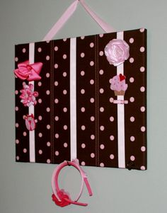 I'm going to make one of these for the girls bathroom to hold all their hair pretties