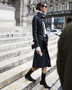 What a beautifully dainty heel, it really accentuates the long, slim likes of this look, Paris
