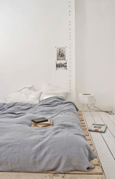 I really want a low platform bed with like a little shelf for a headboard.