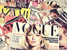 Reading fashion magazines♥
