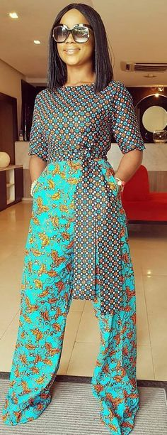 African print jumpsuit African fashion, Ankara, kitenge, Af… by Zahra Delong - 2019 Trends African Inspired Fashion, African Dresses For Women, African Print Dresses, African Print Fashion, Africa Fashion, African Attire, African Wear, African Fashion Dresses, Ethnic Fashion