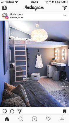 Bedroom Design For Teen Girls, Teen Girl Rooms, Teenage Girl Bedrooms, Little Girl Rooms, Girls Bedroom, Bedroom Ideas, Ikea, Small Room Design, Teen Room Decor
