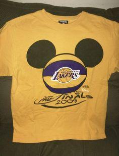 cf3b1edb4d7 Los Angeles Lakers Mickey Finals  NBA 2009 Youth Large Shirt from  4.99