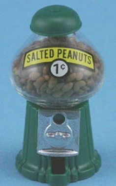 Dollhouse Miniature SALTED PEANUT MACHINE 1:12 scale Gumball