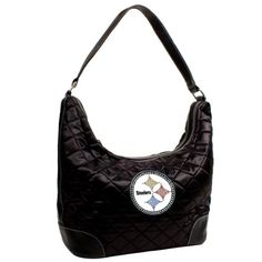 Pittsburgh Steelers Sport Noir Quilted Hobo Purse
