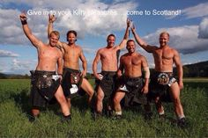 kilts are very popular in Germany and Austria, as these kilties from the Veitlander Highland Games demonstrate. Scottish Man, Scottish Tartans, Scottish Plaid, Highland Games, Men In Kilts, Kilt Men, Komplette Outfits, Raining Men, Man In Love