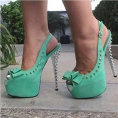 Glaring Peep-toe Platform Stiletto Heels