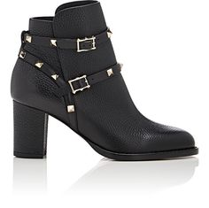 VALENTINO Rockstud Double-Strap Boots. #valentino #shoes #all