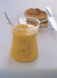 Passionfruit Curd: As wonderful as this is to eat piled on top of fresh white bread, it is exceptional sandwiching a Victoria sponge, dolloped over muffins and pancakes, or poured into a cooked and cooled pastry case.