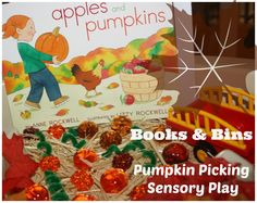 Sensory Play Small World to Go With Book, Pumpkins & Apples by Anne Rockwell (from Little Bins for Little Hands)