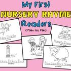 Nursery Rhyme Printable Emergent Readers  Blackline Kindergarten