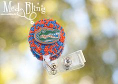 Beaded badge reel - University of Florida Gators