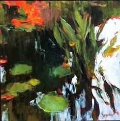 Lily Pad Abstract d ainsworth oil