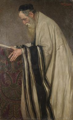 Reading the Talmud - Ignaz Schoenfeld 19th century
