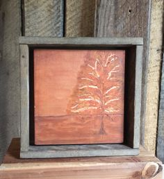 Engraved Wood, Wall Art, Orange Home Decor, Turning Leaves, Rustic, Cabin, Fall…