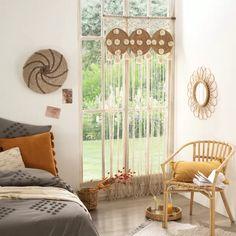 Rideau fil en macramé 3 en 1 (Beige) - Homemaison : vente en ligne tous les rideaux Decoration, Valance Curtains, Home Accessories, Boho, Bedroom, Collection, Home Decor, Products, Curtains For Bedroom