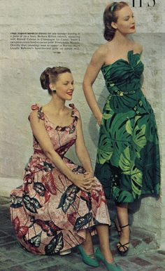 The Midvale Cottage Post: Resort Fashions 2013 - Vintage 1950 Styles!