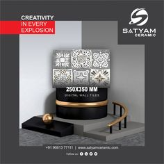 Creativity in every Explosion Satyam Ceramic Digital Wall Tiles:- MM Digital Wall, Wall Tiles, Creativity, India, Ceramics, Bathroom, Kitchen, Home Decor, Room Tiles