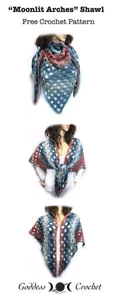 New Crochet Summer Shawl Free Ideas Crochet Shawl Free, Crochet Cape, Crochet Shawls And Wraps, Crochet Beanie, Crochet Scarves, Crochet Clothes, Knit Crochet, Crochet Summer, Crochet Vests