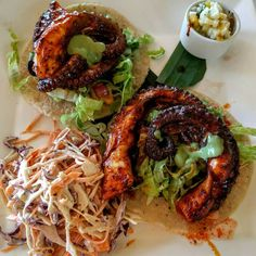 Octopus tacos at La Palapa Restaurant at the Melia Vacation Club Puerto Vallarta.