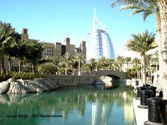 View of from Burj Al Arab, Luxury Holidays, Dubai Uae, Marina Bay Sands, Destinations, Building, Travel, Viajes, Buildings