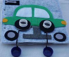 Garage- Quiet Book Page / Felt Activity Page / Birthday Gift For Toddler / Learning Toy / Unique Gift / Personalized / Sensory Toy / Learning Toys For Toddlers, Toddler Learning, Personalised Gifts Unique, Unique Gifts, Felt Books, Quiet Books, As You Like, Just For You, First Anniversary Gifts