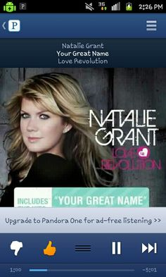 """Your Great Name"" - Natalie Grant- Love this song!"
