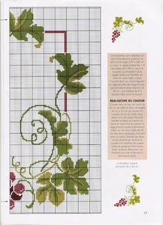 ♥ My point Graphs Cross ♥: Grapes and Wine in Point Cruz for Pillows Tablecloths Cross Stitch Fruit, Cross Stitch Kitchen, Cross Stitch Flowers, Cross Stitching, Cross Stitch Embroidery, Cross Stitch Patterns, Cross Stitch Pillow, Cross Stitch Boards, Hand Work Embroidery